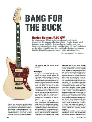 Gitarre & Bass Harley Benton JA60 OW