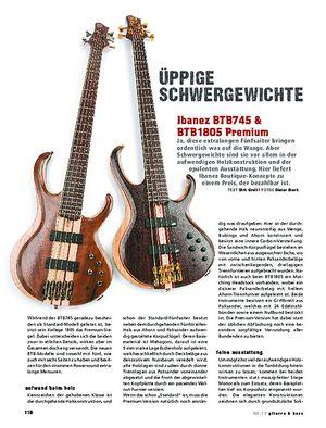 Gitarre & Bass Ibanez BTB 745 & BTB 1805 Premium