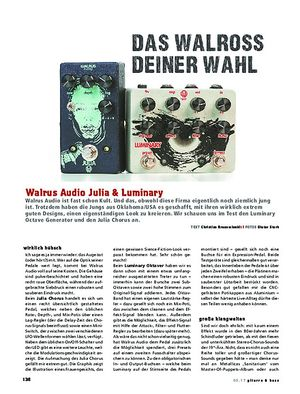Gitarre & Bass Walrus Audio Julia  & Luminray