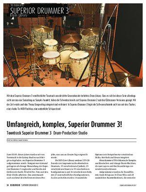 Sound & Recording Toontrack Superior Drummer 3
