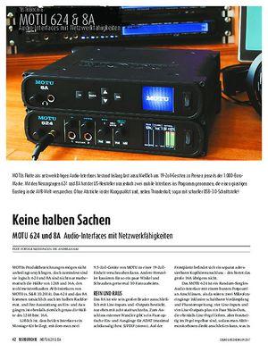 Sound & Recording MOTU 624 und 8A