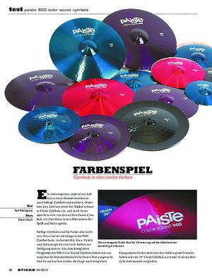 Sticks Paiste 900 Color Sound Cymbals