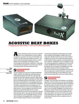 Sticks Meinl Bassbox und Snarebox