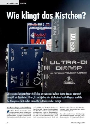 Professional Audio Wie klingt das Kistchen? DI-boxen Test