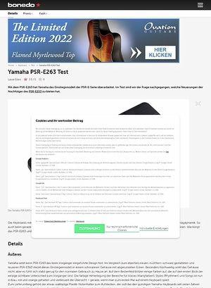 Bonedo.de Yamaha PSR-E263
