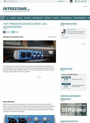 Amazona.de Presonus Audiobox USB 96