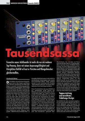 Professional Audio Tausendsassa: Focusrite ISA828