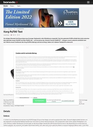 Bonedo.de Korg PA 700