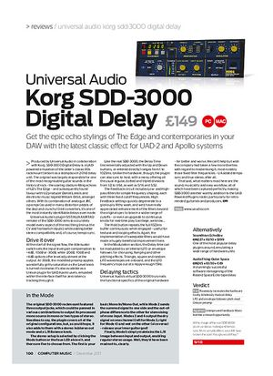 Computer Music Korg SDD-3000 D igital Delay