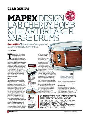 Rhythm Mapex Design Lab Cherry Bomb & HeartBreaker Snare Drums