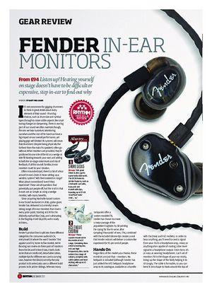 Rhythm Fender in-ear Monitors