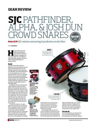 Rhythm SJC Pathfinder Alpha and Josh Dun Snares