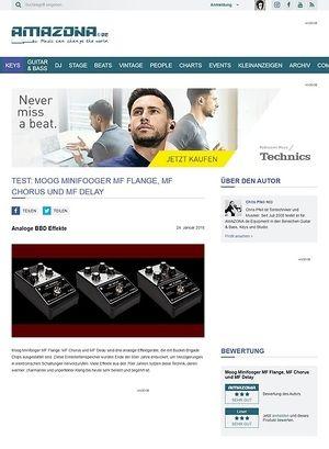Amazona.de Moog Minifooger MF Flange, MF Chorus und MF Delay