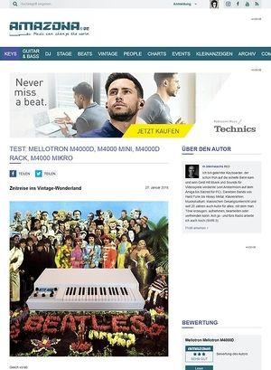 Amazona.de Mellotron M4000D, M4000 Mini, M4000D Rack, M4000 Mikro