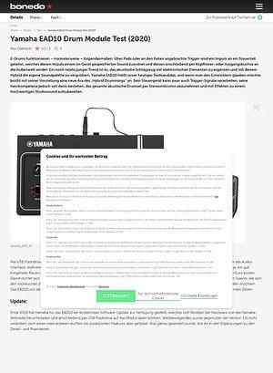 Bonedo.de Yamaha EAD10 Drum Module