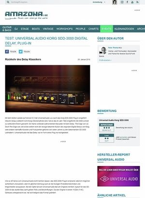 Amazona.de Universal Audio Korg SDD-3000 Digital Delay
