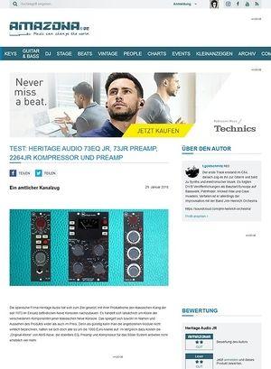 Amazona.de Heritage Audio 73EQ JR, 73JR Preamp, 2264JR Kompressor und Preamp