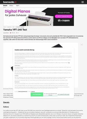 Bonedo.de Yamaha YPT-240