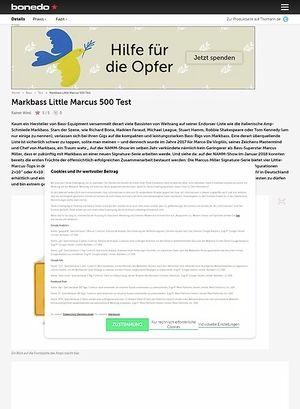 Bonedo.de Markbass Little Marcus 500