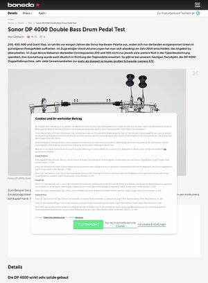 Bonedo.de Sonor DP 4000 Double Bass Drum Pedal
