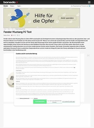 Bonedo.de Fender Mustang PJ