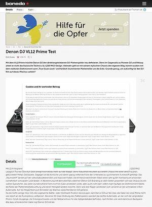 Bonedo.de Denon DJ VL12 Prime