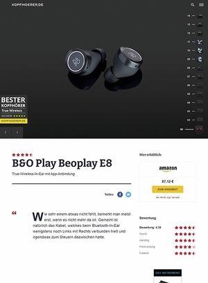 Kopfhoerer.de B&O Play E8 Black