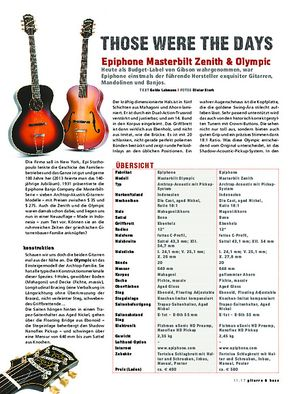 Gitarre & Bass Epiphone Masterbilt Zenith & Olympic