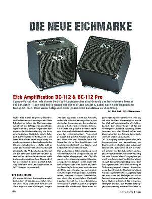 Gitarre & Bass Eich Amplification BC-112 & BC-112 Pro