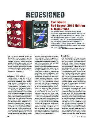 Gitarre & Bass Carl Martin Red Repeat 2016 Edition & TremO´vibe