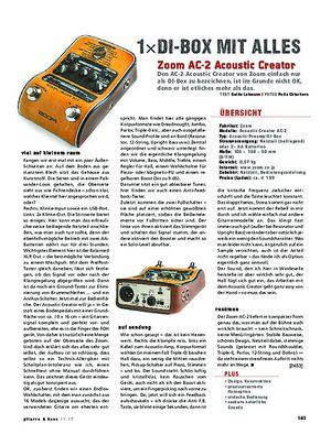 Gitarre & Bass Zoom AC-2 AcousticCreator
