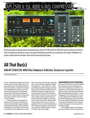 Sound & Recording UAD API 2500 & SSL 4000 G Bus Compressor Collection