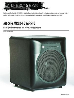 Sound & Recording Mackie MR824 & MRS10