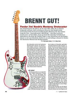 Gitarre & Bass Fender Jimi Hendrix Monterey Stratocaster