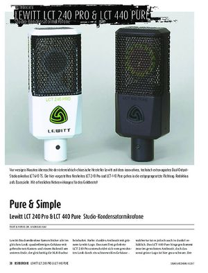 Sound & Recording Lewitt LCT 240 Pro & LCT 440 Pure