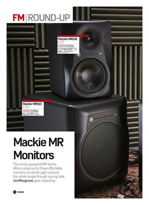 Future Music Mackie MR Monitors (MRS10 & MR624)