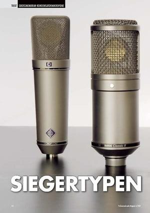 Professional Audio Siegertypen: Großmembranmikrofone