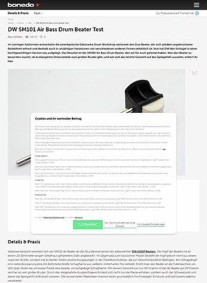 Bonedo.de DW SM101 Air Bass Drum Beater