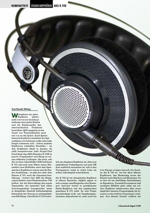 Professional Audio Feingeist AKG K 702