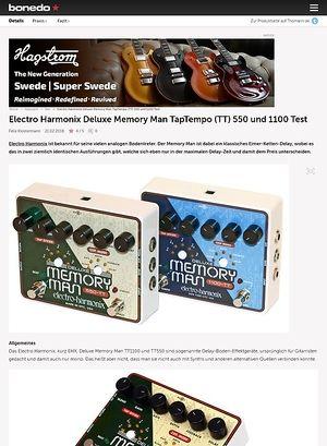Bonedo.de Electro Harmonix Deluxe Memory Man TapTempo (TT) 550 und 1100