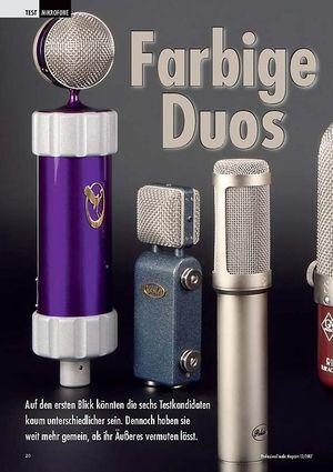 Professional Audio Farbige Duos: Mikrofone