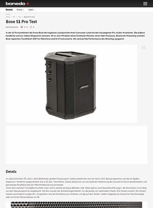 Bonedo.de Bose S1 Pro