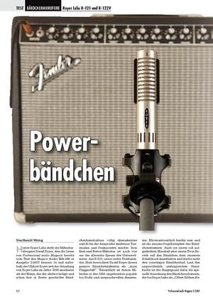 Professional Audio Powerbändchen Royer Labs R-121 und R-122V