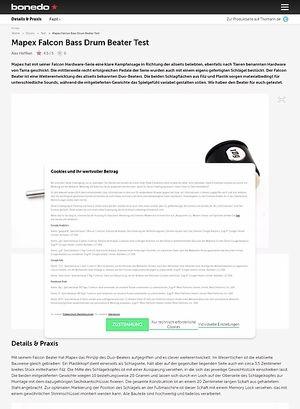 Bonedo.de Mapex Falcon Bass Drum Beater