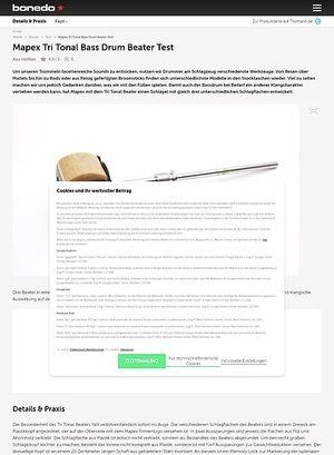 Bonedo.de Mapex Tri Tonal Bass Drum Beater