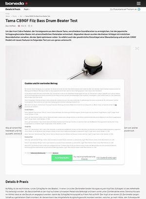 Bonedo.de Tama CB90F Filz Bass Drum Beater