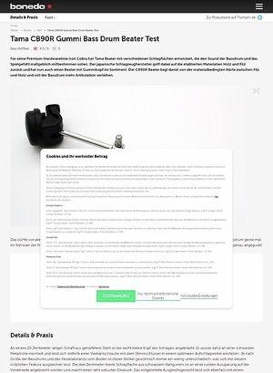 Bonedo.de Tama CB90R Gummi Bass Drum Beater