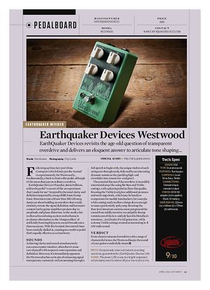 Guitarist Earthquaker Devices Westwood
