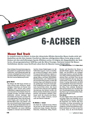 Gitarre & Bass Mooer Red Truck