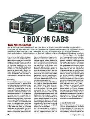 Gitarre & Bass Two Notes Captor, Load-Box & Speaker Sim